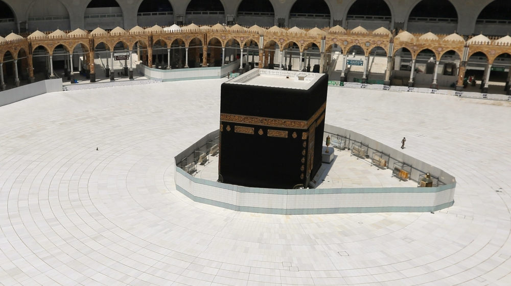 General view of Kaaba at the Grand Mosque in Mecca after Saudi authorities suspended Umrah [File-Ganoo Essa-Reuters]