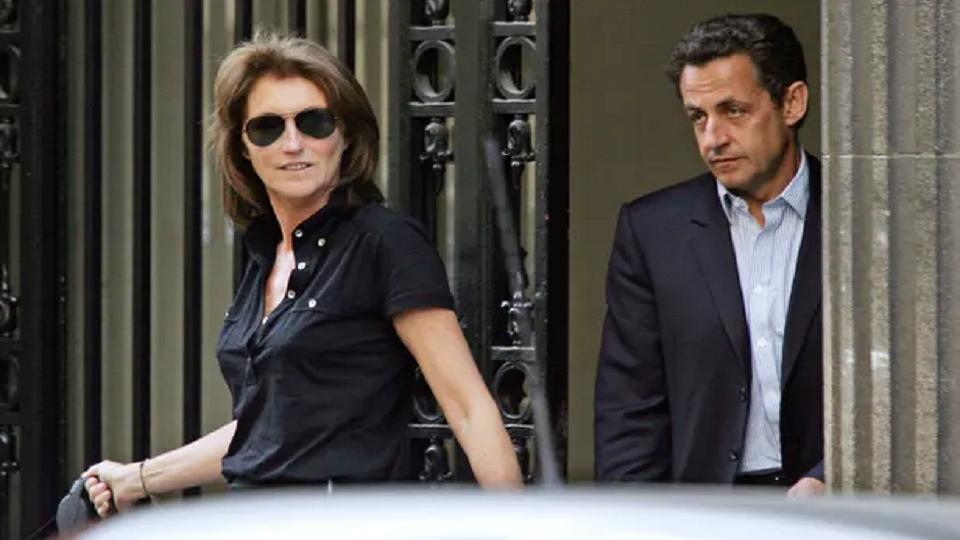 Nicolas Sarkozy with his then wife, Cécilia Attias